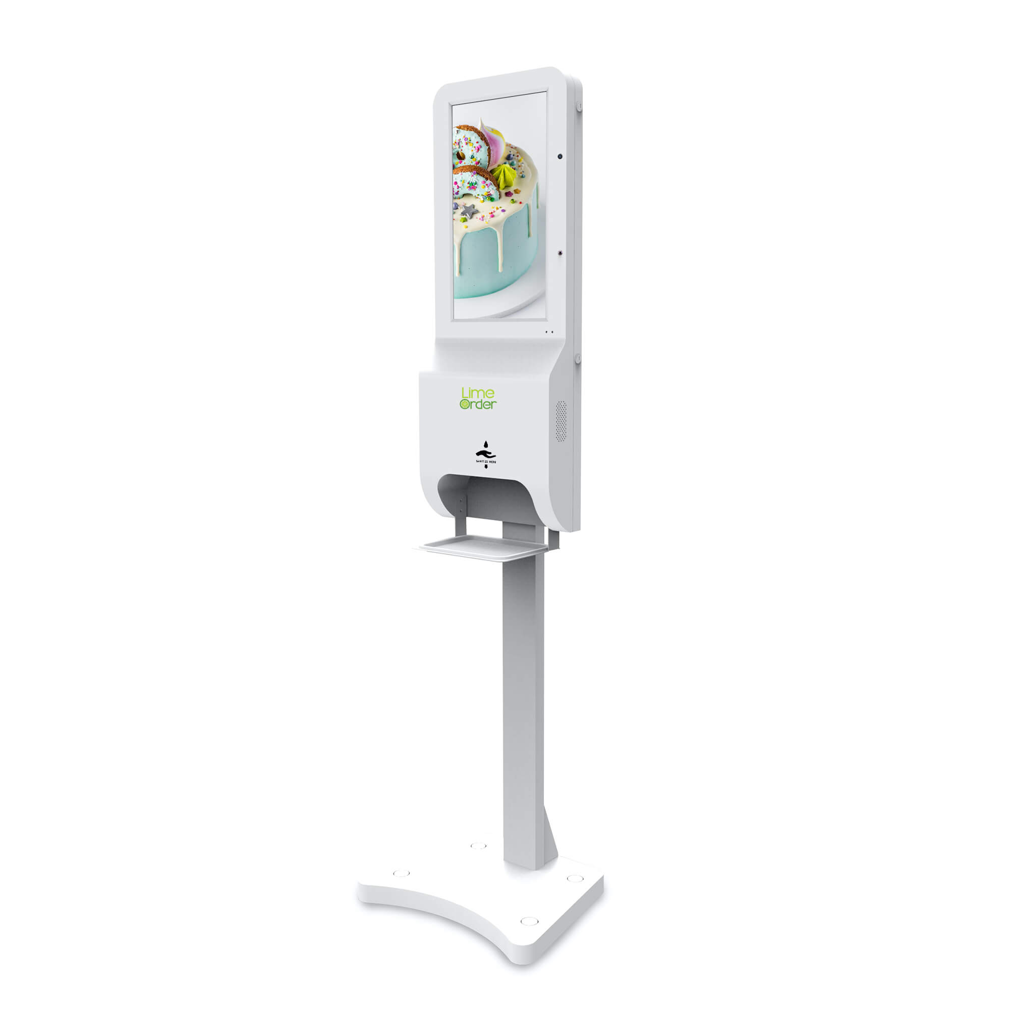 LimeOrder Temperature Sanitizer Kiosk 21 inch white2